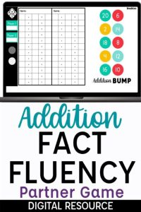 Addition Fact Fluency Partner Game on Google Slides
