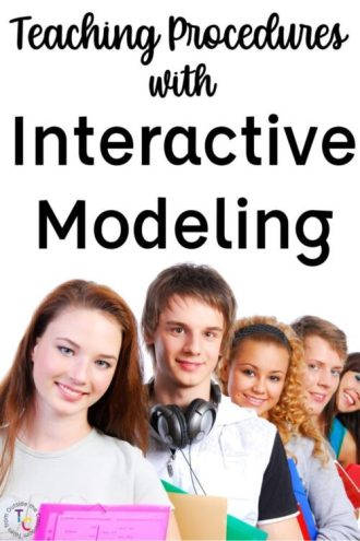 Teaching Procedures with Interactive Modeling with students in line