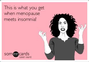 menopause meets insomnia