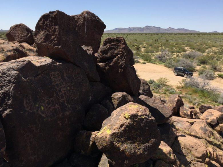 Mojave Desert, Mojave National Preserve, Lanfair Butte, Indian Wells, Petroglyphs, Rock Art, California, Xterra