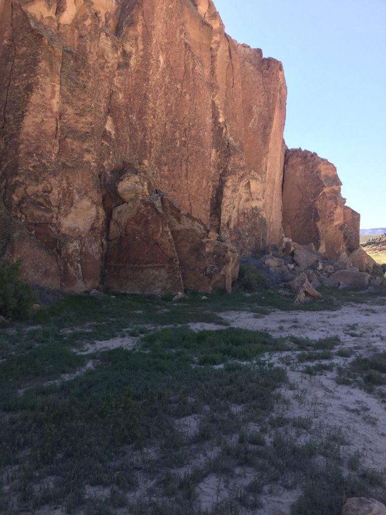 White River Narrows, Calendar Fence, Great Basin, Lincoln County, Nevada, Rock Art, Petroglyphs