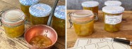 Courgette & Ginger Jam is delicious & a great way to use up overgrown courgettes.