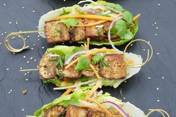 Sesame Tofu Kebabs