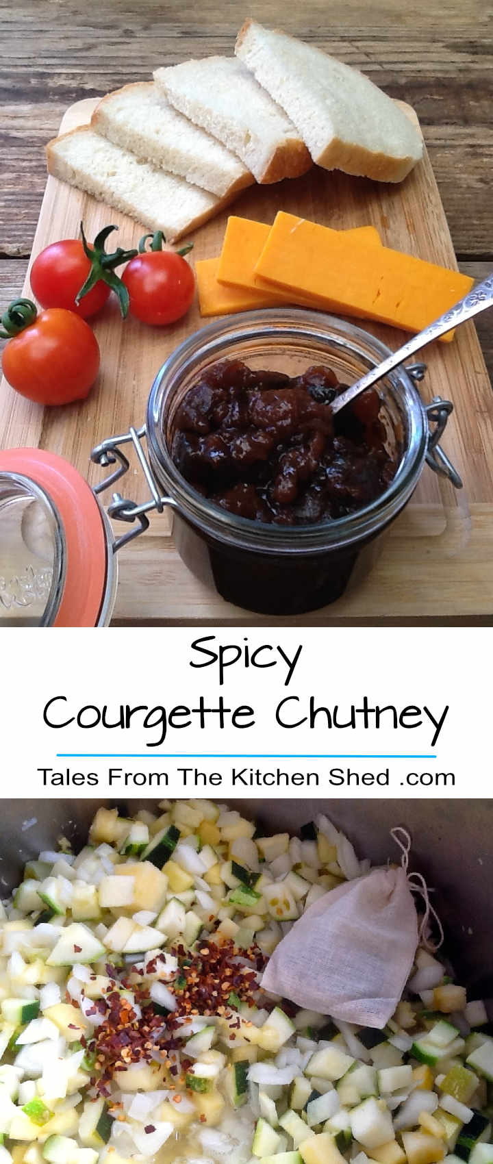 Spicy Courgette Chutney is delicious with cheese, cold meats & perfect for a cheese & pickle sandwich. Spiced with coriander, ginger, mustard seeds and a touch of chilli. Instructions are included for the slow cooker and conventional cooking.