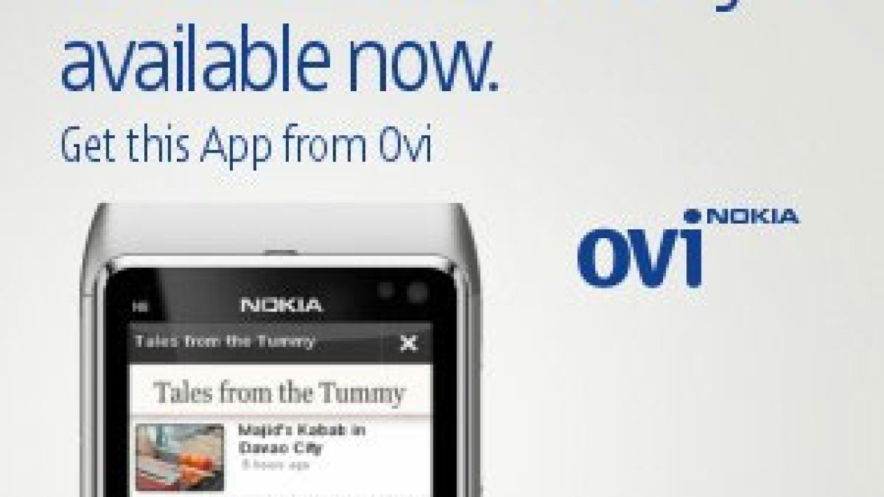 Tales from the Tummy available in Nokia Ovi Store