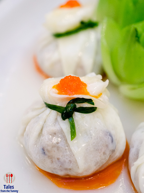 Jade Garden Steamed Dice Chicken in Egg White Wraps