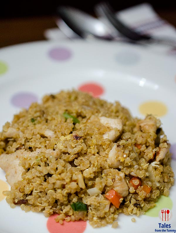 Quinoa fried rice with chicken Recipe 03