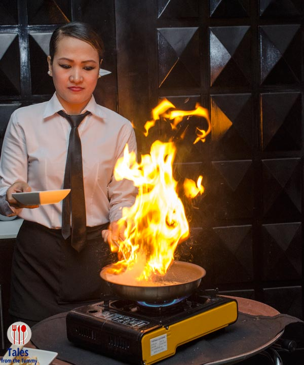 One Way Restaurant Flaming crepes