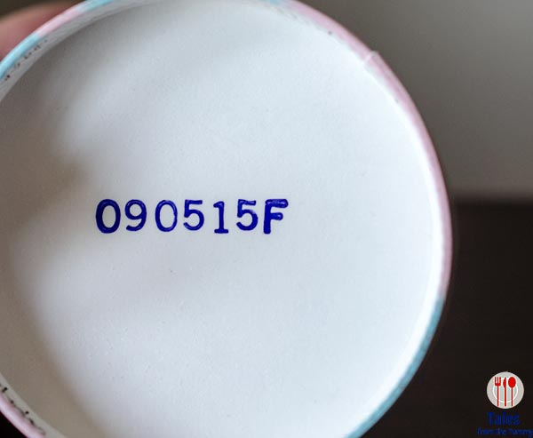 Blue Bell Ice cream pints expiry date