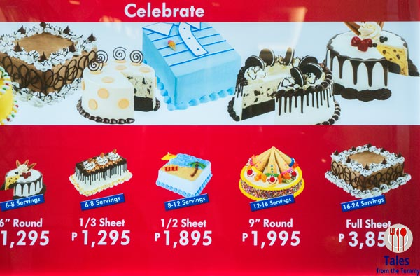 Baskin Robbins Philippines BGC Central Square Ice Cream Cakes