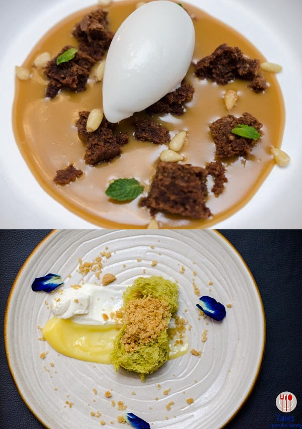 VASK Manila Curve Caramel Chocolate Lava and Deconstructed Lemon Cake
