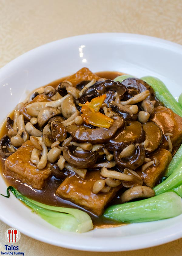 Crystal Jade Dining In BGC Braised Homemade Beancurd with Mushroom