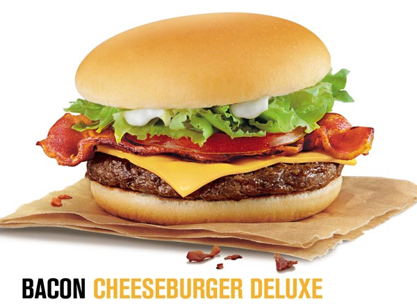 McDonalds Bacon Cheeseburger deluze