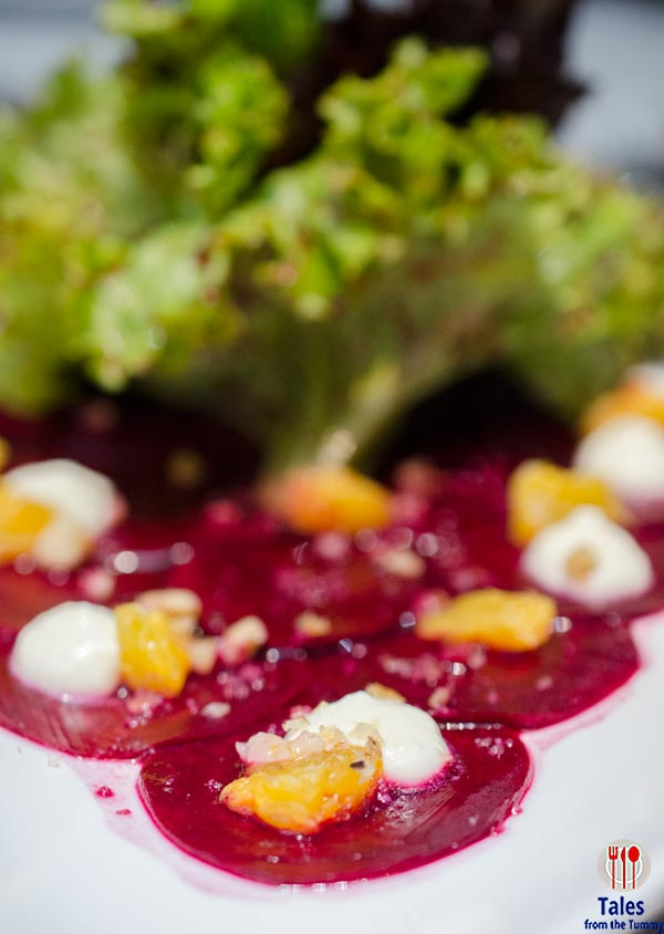 Nest Modern Table and Bar BGC Beetroot Carpaccio