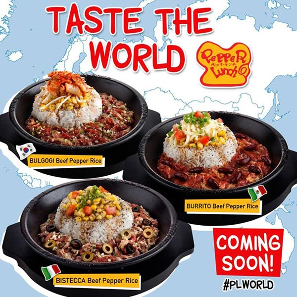 Pepper Lunch Taste The World Poster