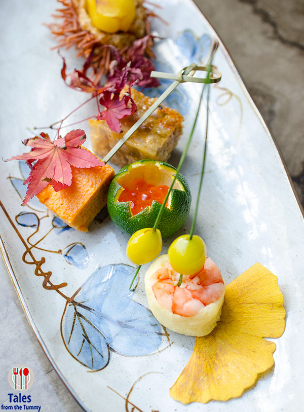 Savor the seasons of japan in inagiku for Japanese canape