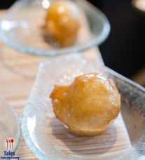 Fried Dough Balls with Rose Syrup