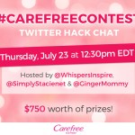Join us for the Carefree Hacks Twitter Party July 23rd at 12:30 PM #CarefreeContest