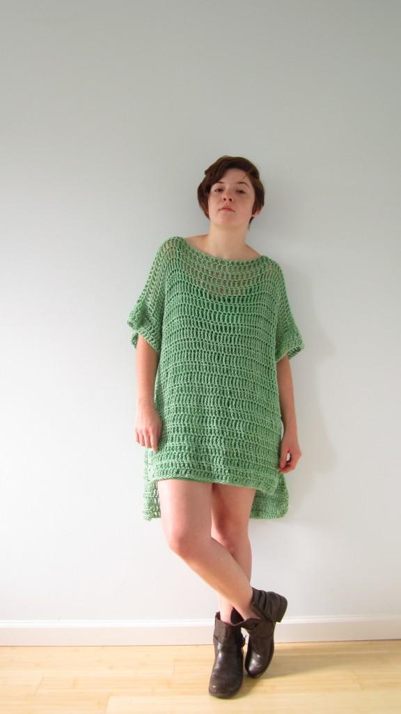 green boxy dress 1