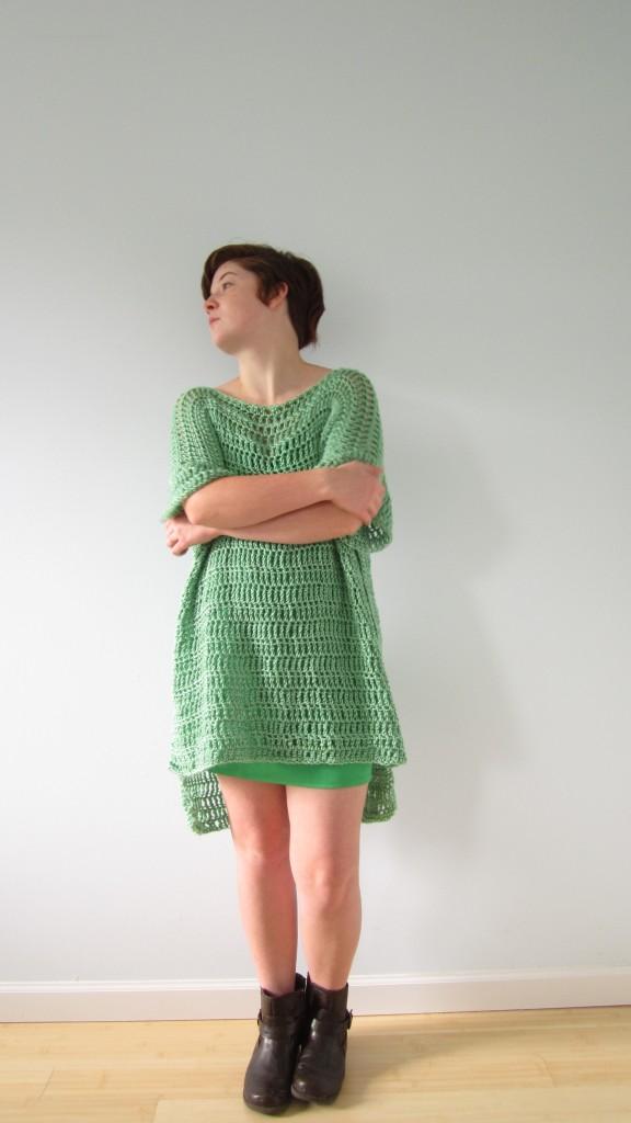 green boxy dress 2