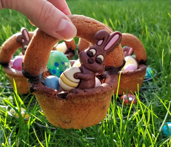 Chocolate Chip Cookie Easter Baskets recipe