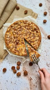 Dutch Speculaas tart with Almond filling-gevulde speculaas