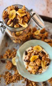 Chunky Monkey Granola - Chocolate, Banana, Peanut butter & Walnuts