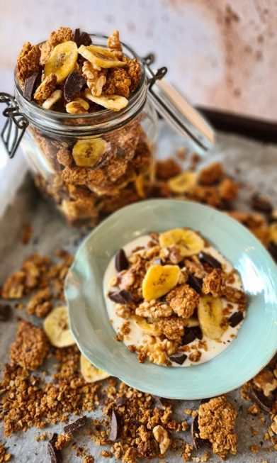 Chunky Monkey Granola recipe