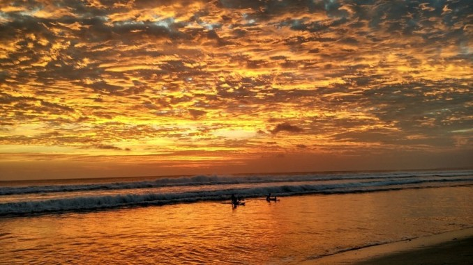 Sunset Surfing at kuta beach