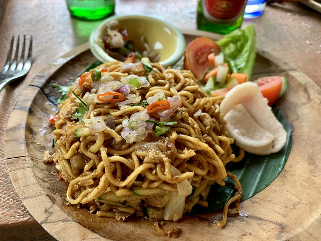 Mie Goreng with sambal matah a must try food from Bali