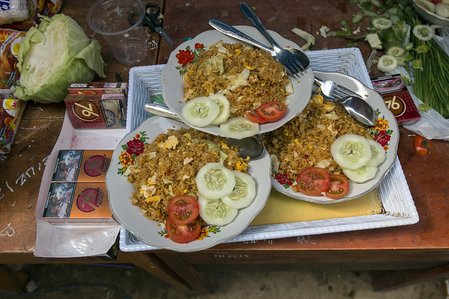 Nasi goreng, very standard but delicious dish served in Bali at a lot of places