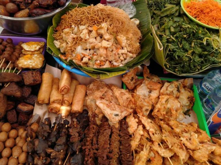 Street food choice from Yogyakarta