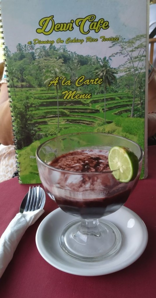 Black rice pudding drink
