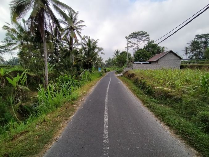 nearby road at a quiet place in Bali