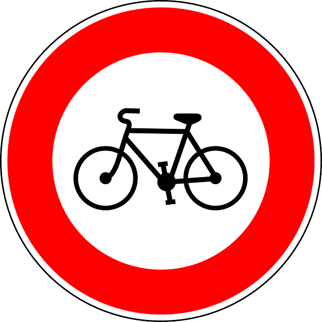 Bicycle do not allowed from this point on Amsterdam