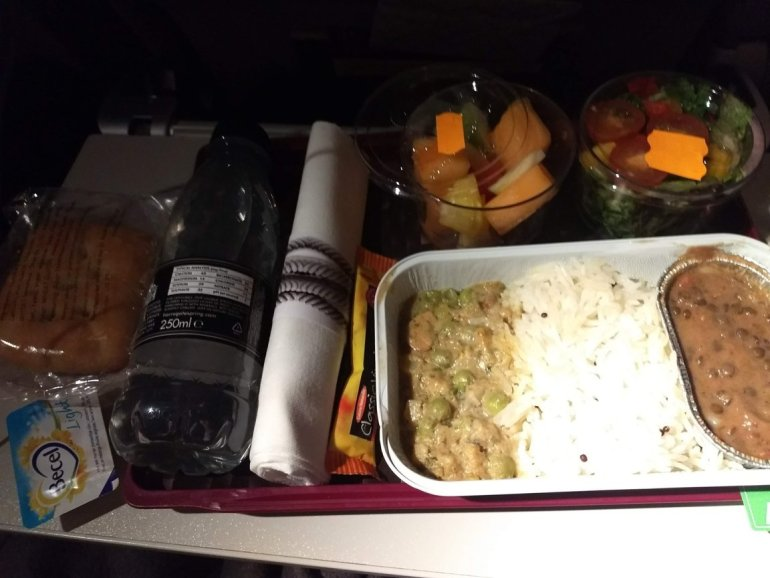Main meal Qatar Airways Vegetarian