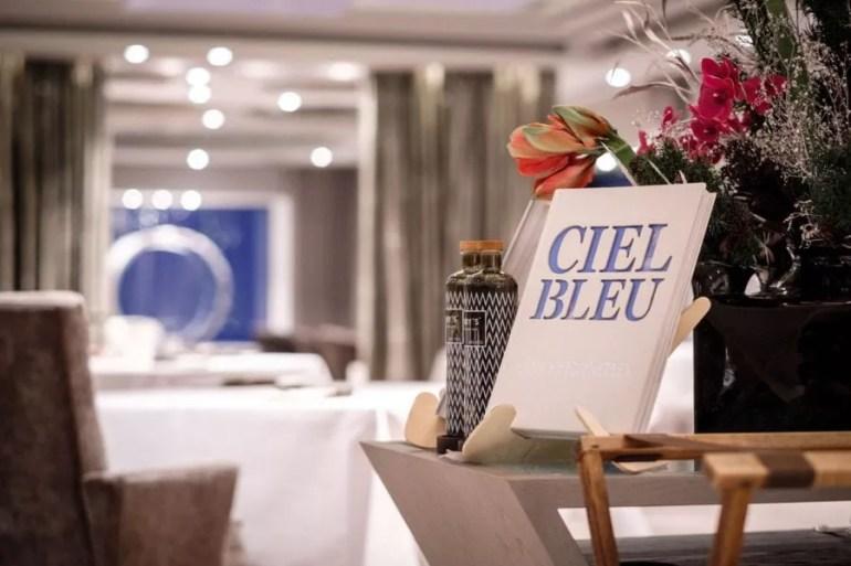 Ciel Bleu romantic restaurant at Okura Hotel