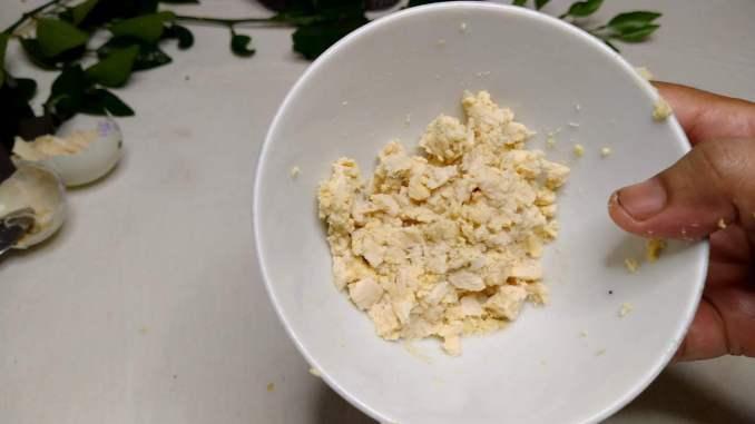 mashed salted egg