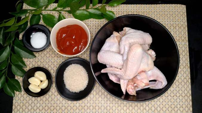 ingredients for tender grilled chicken wings