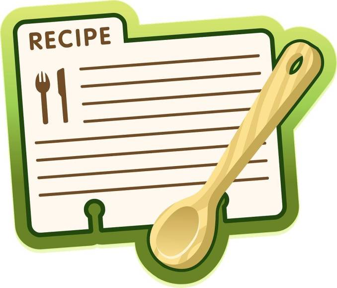 Recipe for blogging
