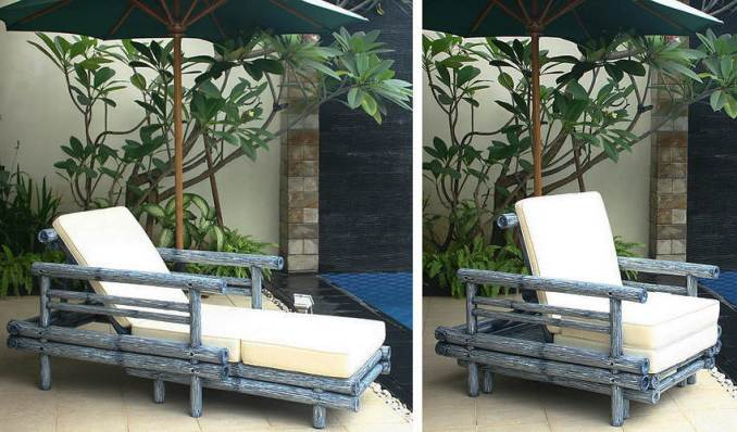 Bambo sunbed and chair