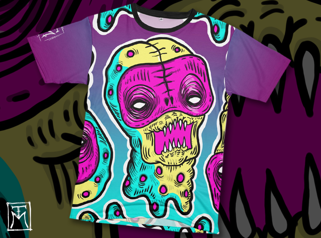 Crazy all-over printed T-shirt.