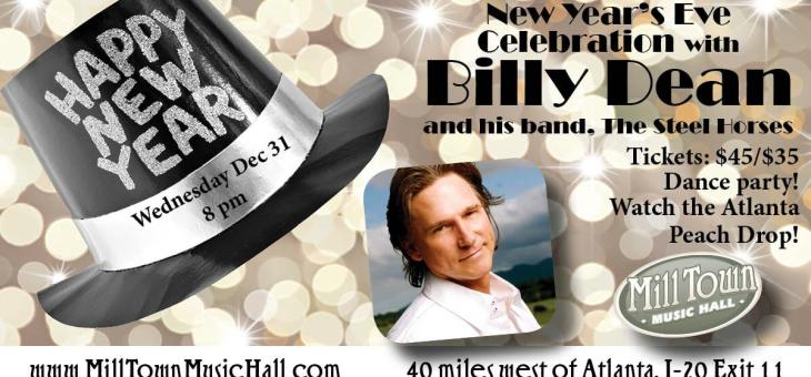 Event Preview: New Year's Eve w/ Billy Dean @ Mill Town Music Hall 12/31