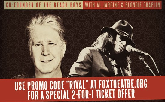 Event Preview: Brian Wilson with Rodriguez @ The Fox Theatre 6/26/15 (Promo Code Inside!)