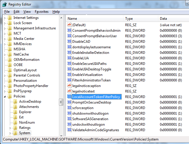 Can't connect to the ADMIN$ or IPC$ shares on a computer