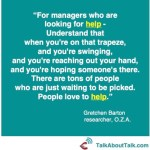 Asking for help - quote from Gretchen Barton