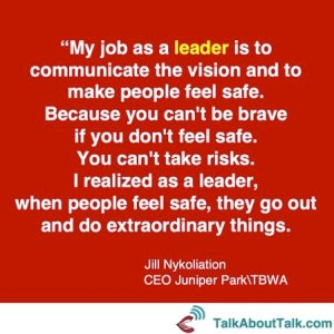 Leadership quote Jill Nykoliation