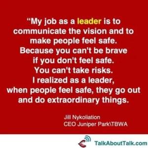 Leadership quote Jill Nykoliation