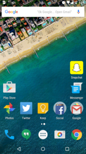 Google Now Launcher and Home Screen