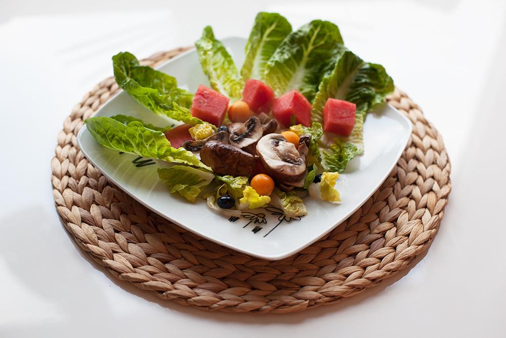 Salat mit Wassermelone 1